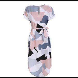 ASOS Geometric Print Dress